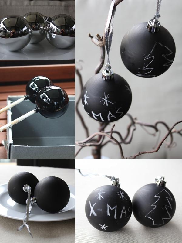 Diy weihnachtskugeln mit tafellack die sendung mit der tau for Ikea christbaumkugeln