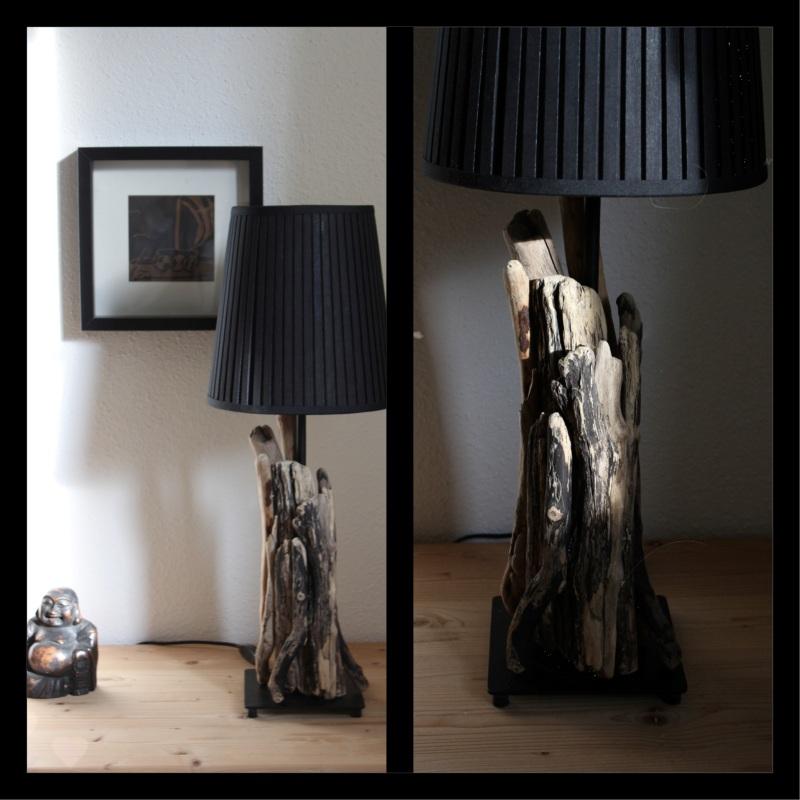Schwemmholz-Lampe